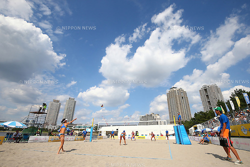 General View,<br /> SEPTEMBER 21, 2015 - Beach Volleyball : <br /> JBV Tour 2015 Tokyo Open<br /> Women's Final<br /> at Odaiba Beach, Tokyo, Japan.<br /> (Photo by Shingo Ito/AFLO SPORT)