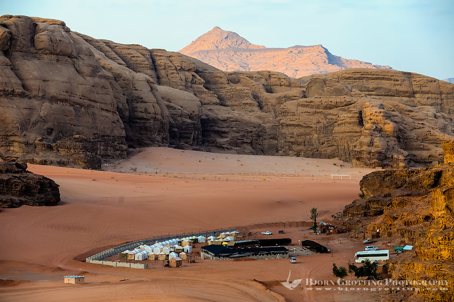 Jordan. Wadi Rum is also known as The Valley of the Moon. Bedouin camp were we spent the evening after dark.