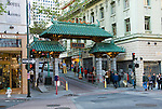 California: Chinatown San Francisco. Entrance gate on Grant Ave. Photo #: chinatown-san-francisco-17-casanf79314. Photo copyright Lee Foster.