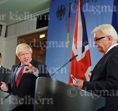 November 04-16,German Foreign Office<br /> German FM Frank-Walter Steinmeier is to meet UK Foreign Minister Boris Johnson in Berlin