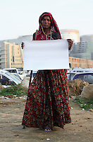 Kali Bagria - 27 yrs,.Hindu.Gurgaon, Haryana.Beggar (Migrant from Rajastan, cannot work having previously suffered from polio).'I do not have anything, and nothing will come to me'.