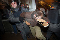 Moscow Police Arrest Anti-Govt Demonstrators