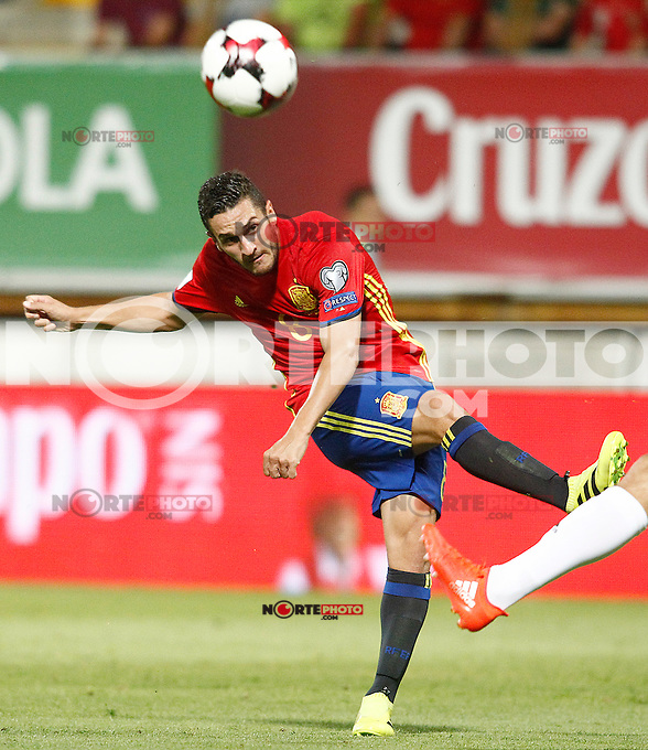 Spain's Koke Resurreccion during FIFA World Cup 2018 Qualifying Round match. September 5,2016.(ALTERPHOTOS/Acero) /NORTEPHOTO
