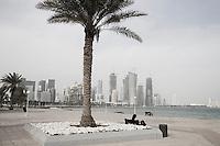 Qatar - Doha - Corniche with view on Financial District