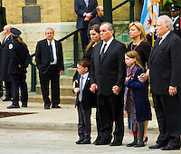 At the funeral of Mayor Daley's wife Maggie. Downtown Chicago November 28th, 2011.