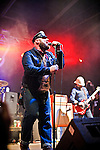"Turbonegro at Fun Fun Fun Fest, Austin, Texas, November 4, 2012.  Turbonegro (Turboneger in Norway) is a Norwegian punk rock band that was initially active from 1989 to 1998, and later reformed in 2002. Their style combines glam rock, punk rock and hard rock into a style the band describes as ""deathpunk""."