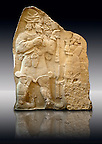 Moulding of 8th Cent. BC late Hittite rock relief . Warpalas, King of Tyana land, praying in front of a plant &amp; storm god Tarhunza. From Ivriz (Konya, Ergeli) Turkey. Istanbul Archaeological Museum Inv. No 7869.
