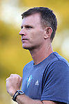 15 September 2015: UNCW head coach Aidan Heaney (ENG). The Duke University Blue Devils hosted the University of North Carolina Wilmington Seahawks at Koskinen Stadium in Durham, NC in a 2015 NCAA Division I Men's Soccer match. UNCW won the game 3-0.