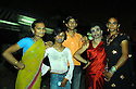 Members of India's Hijras community, transgender prostitutes, at work behind Mumbai's central station.