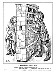 """A Midsummer Day's Plea. Pyramus. """"Thou wall, O wall, O sweet and lovely wall, Show me thy chink."""" (""""A Midsummer Night's Dream"""" Act V Sc. I) [Mr.Chamberlain recently referrred to """"a sort of wall between the British and Russian Governments whcih it is extremely difficult to penetrate.""""]"""