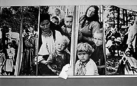 Jasenovac / Croatia.Museum of Holocaust in Jasenovac, the place where Ustasha pro-nazi regime run a terrible concentration and extermination camp during the second world war..On the walls some pictures of the prisoners..Most of them were serbs, roma and jews. .Photo Livio Senigalliesi