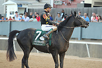 HOT SPRINGS, AR - APRIL 15: Sonneteer #7, with jockey Kent Desormeaux aboard after the running of the Arkansas Derby at Oaklawn Park on April 15, 2017 in Hot Springs, Arkansas. (Photo by Justin Manning/Eclipse Sportswire/Getty Images)