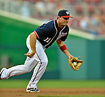 16 May 2012: Washington Nationals third baseman Ryan Zimmerman in action against the Pittsburgh Pirates at Nationals Park in Washington, DC. The Nationals defeated the Pirates 7-4 in the first game of their 2-game series. Mandatory Credit: Ed Wolfstein Photo
