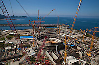 Cranes in operation at construction of Angra 3 Nuclear Plant.