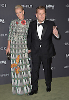 LOS ANGELES, CA. October 29, 2016: Actor &amp; chat show host James Corden &amp; actress wife Julia Carey at the 2016 LACMA Art+Film Gala at the Los Angeles County Museum of Art.<br /> Picture: Paul Smith/Featureflash/SilverHub 0208 004 5359/ 07711 972644 Editors@silverhubmedia.com