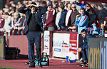 Hearts v St Johnstone&hellip;19.03.16  Tynecastle, Edinburgh<br />Tommy Wright struggles to see against the bright sun<br />Picture by Graeme Hart.<br />Copyright Perthshire Picture Agency<br />Tel: 01738 623350  Mobile: 07990 594431