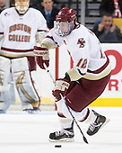 Kevin Hayes (BC - 12) - The Boston College Eagles defeated the Boston University Terriers 3-2 (OT) in their Beanpot opener on Monday, February 7, 2011, at TD Garden in Boston, Massachusetts.