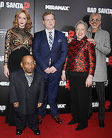 NEW YORK, NY November 15:Christina Hendricks, Tony Cox, Brett Kelly, Kathy Bates, Billy Bob Thornton at Broad Green Picture & Miramax's presents New York premiere of BAD SANTA 2 at AMC Loews Lincoln Square in New York City.November 15, 2016. Credit:RW/MediaPunch