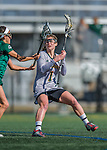 30 March 2016: University of Vermont Catamount Attacker Elena McWright, a Sophomore from Baldwin, MD, in first half action against the Manhattan College Jaspers at Virtue Field in Burlington, Vermont. The Lady Cats defeated the Jaspers 11-5 in non-conference play. Mandatory Credit: Ed Wolfstein Photo *** RAW (NEF) Image File Available ***