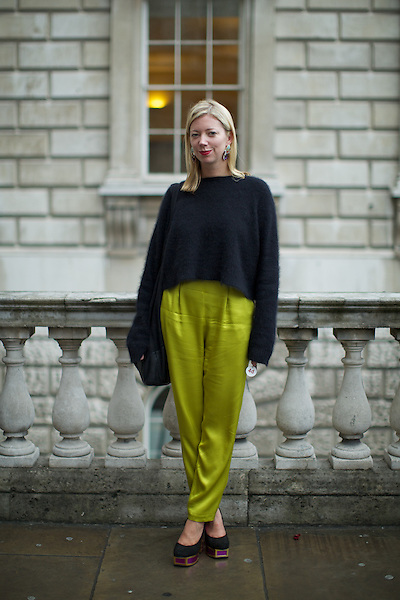 Kat Maconie  London Fashion Week Street Style at Somerset House