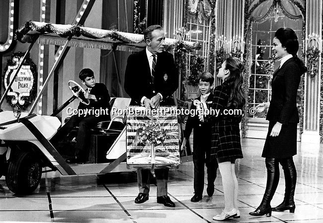 Bing crosby and family during christmas tv special bing crosby