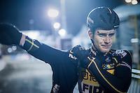 Daan Soete (BEL/Telenet-Fidea) post-race<br /> <br /> Elite Men's race<br /> Superprestige Diegem 2016