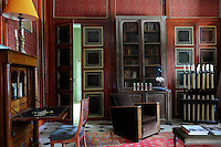 """In this """"Pierre Loti""""-style living room the paint finishes are by Paul-Louis Delafoy, a local artisan"""