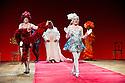"London, UK. 29/06/2011.  les ballets C de la B Alain Platel and Frank Van Laecke present ""Gardenia"" at Sadler's Wells. In red: Vanessa Van Durme. Front: Gerrit Becker. Photo credit should read Jane Hobson"