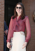 NEW YORK, NY - APRIL 18: Anne Hathaway seen after an appearance on The View in New York City on April 18, 2017. Credit: RW/MediaPunch