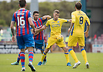 Inverness Caley Thistle v St Johnstone&hellip;27.08.16..  Tulloch Stadium  SPFL<br />David Wotherspoon holds off Ross Draper<br />Picture by Graeme Hart.<br />Copyright Perthshire Picture Agency<br />Tel: 01738 623350  Mobile: 07990 594431