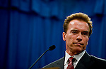 Gov. Schwarzenegger holds a news conference to discuss the California budget crisis, Wednesday Feb. 18, 2009.