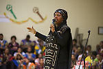 Imhotep CEO and Founder Christine Wiggins shared words of encouragement at the pep rally.