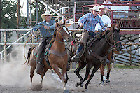 BOERNE, TX - JULY 29, 2006: The Corral Club Ring of Fire Ranch Rodeo at the Kendall County Fairgrounds. (Photo by Jeff Huehn)