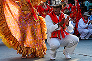 Colombian couple dance Cumbia during the Carnival in Barranquilla, Colombia, 27 February 2007. The Carnival of Barranquilla is a unique festivity which takes place every year during February or March on the Caribbean coast of Colombia. A colourful mixture of the ancient African tribal dances and the Spanish music influence - cumbia, porro, mapale, puya, congo among others - hit for five days nearly all central streets of Barranquilla. Those traditions kept for centuries by Black African slaves have had the great impact on Colombian culture and Colombian society. In November 2003 the Carnival of Barranquilla was proclaimed as the Masterpiece of the Oral and Intangible Heritage of Humanity by UNESCO.