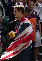 ..Tennis - OLympic Games -Olympic Tennis -  London 2012 -  Wimbledon - AELTC - The All England Club - London - Sunday 5th August  2012. .© AMN Images, 30, Cleveland Street, London, W1T 4JD.Tel - +44 20 7907 6387.mfrey@advantagemedianet.com.www.amnimages.photoshelter.com.www.advantagemedianet.com.www.tennishead.netAndy Murray..Tennis - OLympic Games -Olympic Tennis -  London 2012 -  Wimbledon - AELTC - The All England Club - London - Sunday 5th August  2012. .© AMN Images, 30, Cleveland Street, London, W1T 4JD.Tel - +44 20 7907 6387.mfrey@advantagemedianet.com.www.amnimages.photoshelter.com.www.advantagemedianet.com.www.tennishead.net