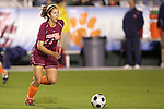 07 November 2008: Virginia Tech's Laurie Beth Puglisi. The University of Virginia and Virginia Tech played to a 1-1 tie after 2 overtimes at WakeMed Stadium at WakeMed Soccer Park in Cary, NC in a women's ACC tournament semifinal game.  Virginia Tech advanced to the final on penalty kicks, 2-1.