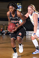 SAN ANTONIO, TX - FEBRUARY 14, 2009: The University of Texas of the Permian Basin Falcons vs. the St. Mary's University Rattlers Women's Basketball at the Bill Greehey Arena. (Photo by Jeff Huehn)