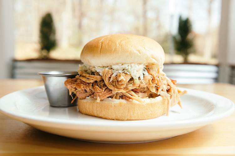 Durham, North Carolina - Thursday March 24, 2016 - PICNIC's Barbeque Sandwich.