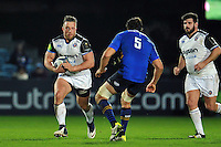 Max Lahiff of Bath Rugby in possession. European Rugby Champions Cup match, between Leinster Rugby and Bath Rugby on January 16, 2016 at the RDS Arena in Dublin, Republic of Ireland. Photo by: Patrick Khachfe / Onside Images