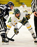12 February 2011: University of Vermont Catamount forward Teddy Fortin, a Senior from Brunswick, ME, in action against the University of New Hampshire Wildcats at Gutterson Fieldhouse in Burlington, Vermont. The Lady Wildcats shut out the Lady Cats 2-0 to split their Hockey East twin game weekend series. Mandatory Credit: Ed Wolfstein Photo