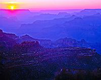Grand Canyon Sunset  Grand Canyon National Park, Arizona  Yavapai Point   June