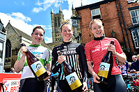 Picture by Alex Whitehead/SWpix.com - 14/05/2017 - Cycling - HSBC UK British Cycling -  National Women's Road Series - Lincoln Grand Prix -  Podium Alice Barnes, Emily Nelson and Lydia Boylan