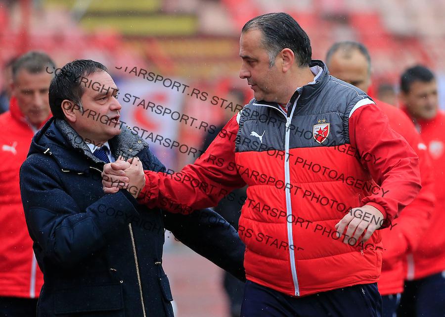 Fudbal Jelen Super League season 2015-2016<br /> Crvena Zvezda v Vozdovac<br /> Blazo Raosavljevic and head coach Miodrag Bozovic<br /> Beograd, 28.11.2015.<br /> foto: Srdjan Stevanovic/Starsportphoto&copy;