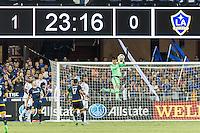SAN JOSE, CA - August 28, 2015: The San Jose Earthquakes vs LA Galaxy match at Avaya Stadium in San Jose, CA. Final score SJ Earthquakes 1, LA Galaxy 0.