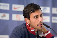 USA's Pablo Mastroeni speaks to reporters during a news conference in Hamburg, Germany, for the 2006 World Cup, June, 8, 2006.
