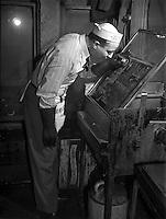 Engraver on the Chicago Defender, 1942 by Jack Delano (LOC)