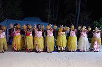 Native Fijian Women Sing and Dance at Turtle Island, Yasawa Islands, Fiji