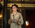 London, UK. 10.04.2014. Shakespeare's Globe presents THE MALCONTENT, in the Sam Wanamaker Playhouse, with the Globe Young Players, directed by Caitlin McLeod. Picture shows: Martha Lily Dean (Aurelia). Photograph © Jane Hobson.