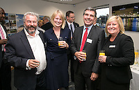 Pictured from left are Paul and Ruth Thomas of Ives & Co, Patrick Wood of Fraser Brown and Julie Corthorn from Handelsbanken