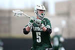 DURHAM, NC - MARCH 11: Loyola's John Duffy. The Duke University Blue Devils hosted the Loyola University Maryland Greyhounds on March 11, 2017, at Koskinen Stadium in Durham, NC in a Division I College Men's Lacrosse match. Duke won the game 15-7.